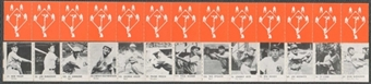 1950 R423 Strip of 13 (Feller, DiMaggio, Mathewson, Speaker, Cobb)
