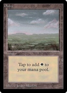 Magic the Gathering Beta Single Plains (Ver 1) - NEAR MINT (NM)