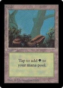 Magic the Gathering Beta Single Forest (Ver 1) - NEAR MINT (NM)