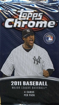 2011 Topps Chrome Baseball Retail Pack