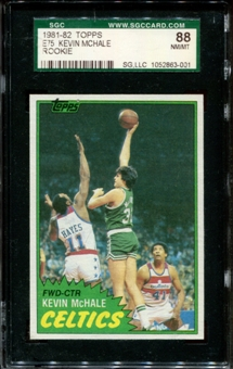 1981/82 Topps Basketball #E75 Kevin McHale Rookie SGC 88 (NM/MT 8) *3001