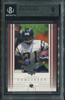 2001 Upper Deck #230 LaDainian Tomlinson RC Rookie Card BGS 9 Mint