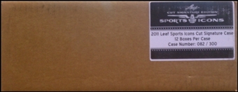 2011 Leaf Sports Icons Cut Signature Edition Hobby 12-Box Case