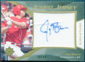 2009 Ultimate Collection Jumbo Jersey Signatures #JB Jay Bruce 19/50