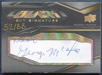 2009 Upper Deck Black Cut Autographs #BCGM George McAfee 52/88