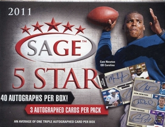 2011 Sage Five Star Rookies Football Hobby Box
