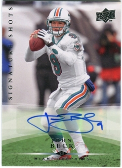 2008 Upper Deck Signature Shots #SS9 John Beck Autograph