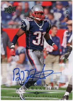2008 Upper Deck Signature Shots #SS55 Brandon Meriweather Autograph