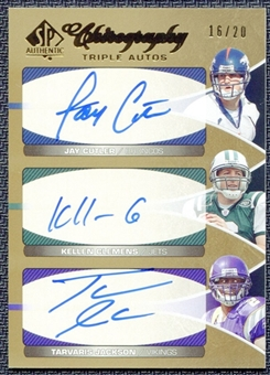 2006 Upper Deck SP Authentic Chirography Triples Jay Cutler Kellen Clemens Tarvaris Jackson 16/20