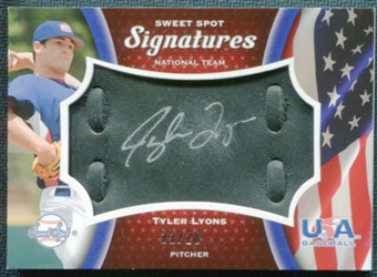 2008 Upper Deck Sweet Spot USA Signatures Black Glove Leather #TL Tyler Lyons 22/28