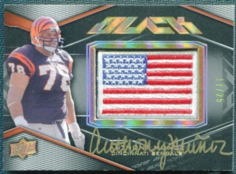 2009 Upper Deck Black US Flag Patch Autographs #16 Anthony Munoz Autograph 17/25