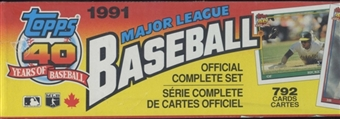 1991 Topps Canadian Baseball Factory Set (Christmas Set)