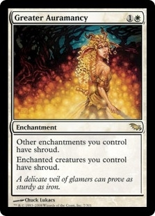 Magic the Gathering Shadowmoor Single Greater Auramancy FOIL - SLIGHT PLAY (SP)