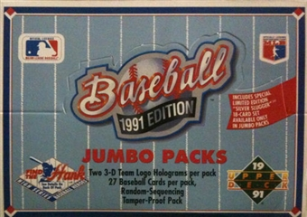 1991 Upper Deck Hi # Baseball Jumbo Box