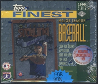1996 Topps Finest Series 2 Baseball Retail Box
