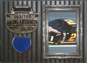 2009 Press Pass Legends Artifacts Sheet Metal Bronze #RWS Rusty Wallace /199