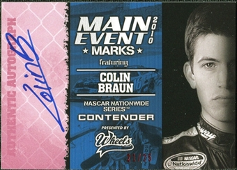2010 Wheels Main Event Marks Autographs Red #7 Colin Braun /25