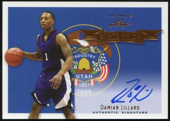 2012 13 Leaf Ultimate State Pride Damian Lillard Auto#DL1 Trailblazers NBA ROY