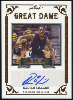 2012 Leaf Legends of Sport AKA Autographs #AKADL1 Damian Lillard