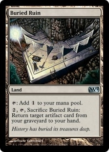 Magic the Gathering 2012 Single Buried Ruins Foil
