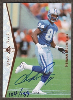 2000 Upper Deck SP Authentic Buy Back Autographs Herman Moore 95SP /133