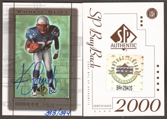 2000 Upper Deck SP Authentic Buy Back Autographs #54 Kevin Faulk 99SPARB /394