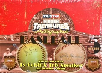 2013 TriStar Hidden Treasures Autographed Baseballs Series 5 Hobby Box