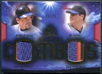 2004 Upper Deck SP Game Used Patch Stellar Combos Dual #LP Al Leiter Mike Piazza 23/25