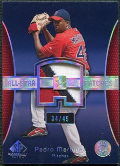 2004 Upper Deck SP Game Used Patch All-Star Number #PM Pedro Martinez 34/45