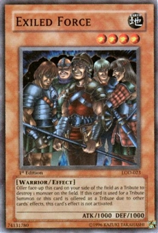 Yu-Gi-Oh Legacy of Darkness Single 1st Edition Exiled Force Super Rare