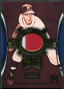 2004 SP Game Used Patch Legendary Fabrics #WS Warren Spahn Arms Down 2/50