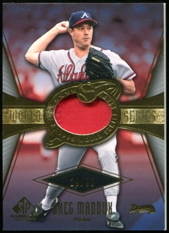 2004 SP Game Used Patch World Series #GM Greg Maddux Arm Up 29/50