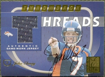 2001 Donruss Elite Throwback Threads Autographs #TT44 Brian Griese John Elway 3/15