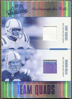 2004 Absolute Memorabilia Team Quads Patch Spectrum James Manning Harrison Wayne 1/1