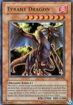 Yu-Gi-Oh Legacy of Darkness Single Tyrant Dragon Ultra Rare (LOD-034)