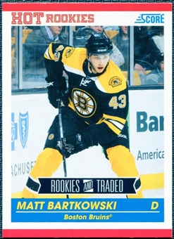 2010/11 Score #654 Matt Bartkowski RC 10 Card Lot