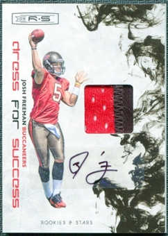 2009 Donruss Rookies and Stars Dress for Success Jerseys Prime Autographs #16 Josh Freeman 5/10