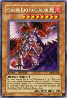 Yu-Gi-Oh Elemental Energy Single Horus the Black Flame Dragon LV8 Secret Rare