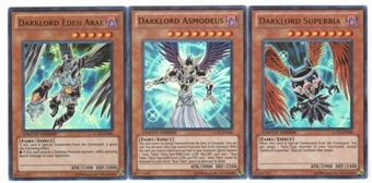 Yu-Gi-Oh Legendary Collection 2 Darklord Superbia, Asmodeus, Edeh Arae Set