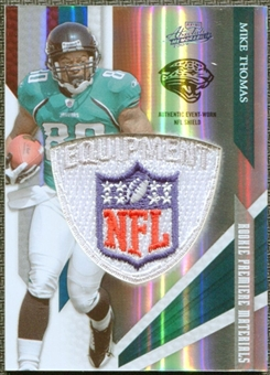2009 Absolute Memorabilia Rookie Premiere Materials NFL Shield #231 Mike Thomas 2/5
