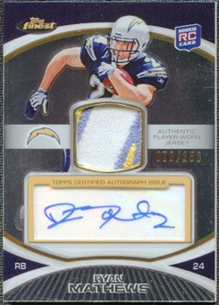 2010 Topps Finest Rookie Patch Autographs #53 Ryan Mathews 70/150