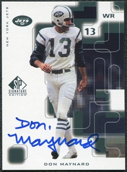 1999 Upper Deck SP Signature Autographs #NY Don Maynard