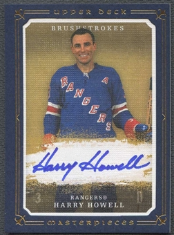 2008/09 Upper Deck Masterpieces Hockey Harry Howell Auto #02/25