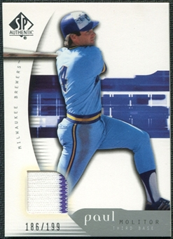 2005 Upper Deck SP Authentic Jersey #76 Paul Molitor /199