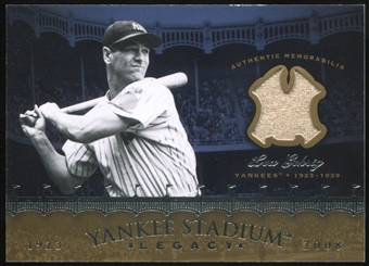 2008 Upper Deck Yankee Stadium Legacy Collection Memorabilia #LG Lou Gehrig