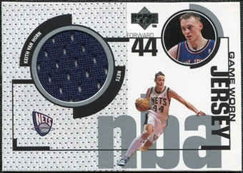1998/99 Upper Deck Game Jerseys #GJ6 Keith Van Horn Navy