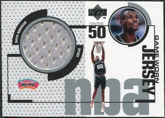 1998/99 Upper Deck Game Jerseys #GJ8 David Robinson Gray