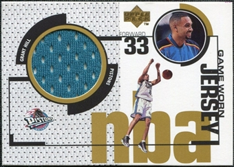 1998/99 Upper Deck Game Jerseys #GJ11 Grant Hill Teal
