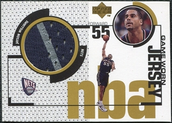 1998/99 Upper Deck Game Jerseys #GJ14 Jayson Williams Navy & Grey