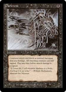 Magic the Gathering Legends Single Darkness UNPLAYED (NM/MT)